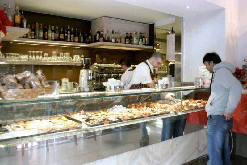 Barra de café italiana fotos de stock royalty free