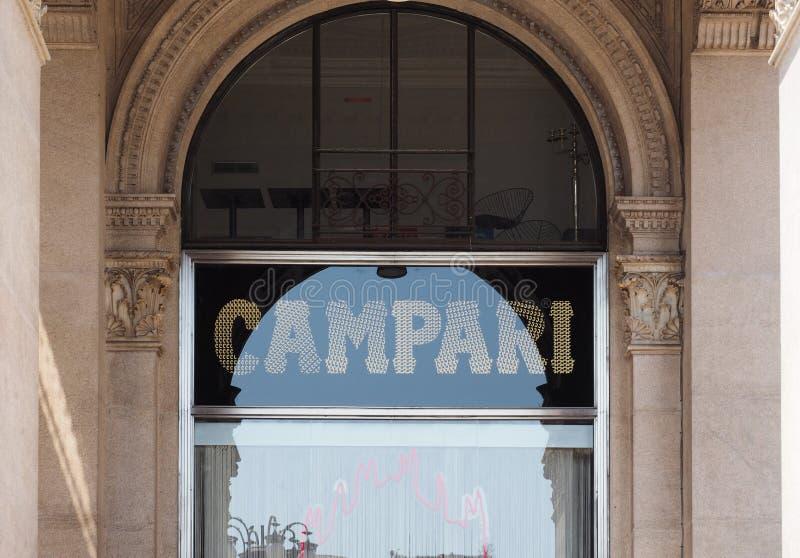 Barra de Campari (aka Camparino) en Milán fotografía de archivo