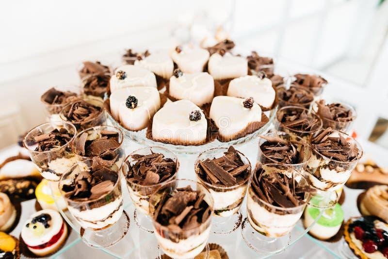 Barra de caramelo deliciosa de la recepción nupcial fotos de archivo libres de regalías