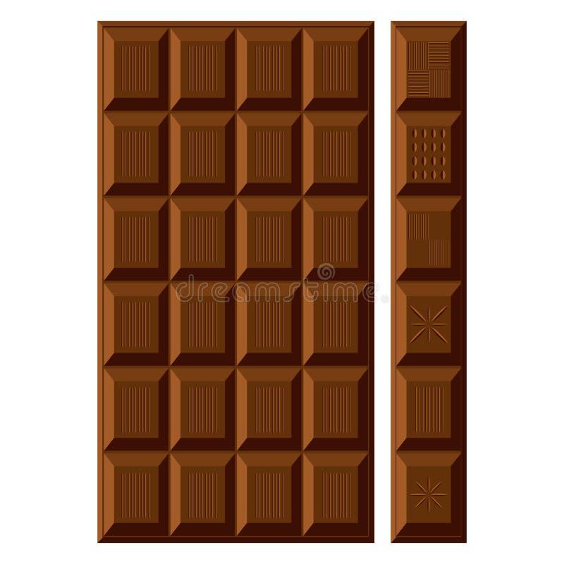 Barra de Chocolat. ilustración del vector