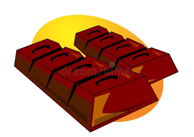 Barra de chocolate ilustração do vetor