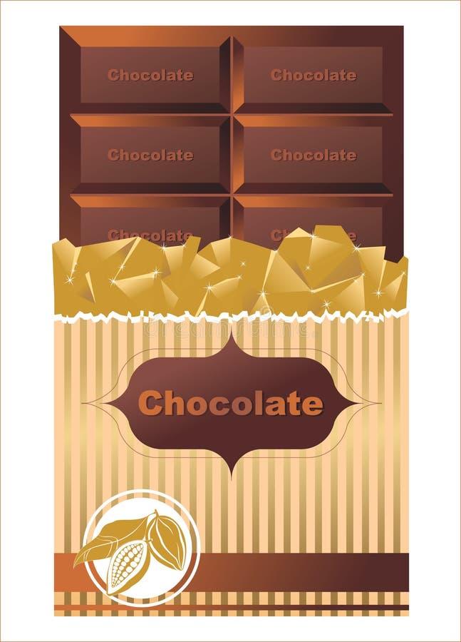Barra de chocolate libre illustration