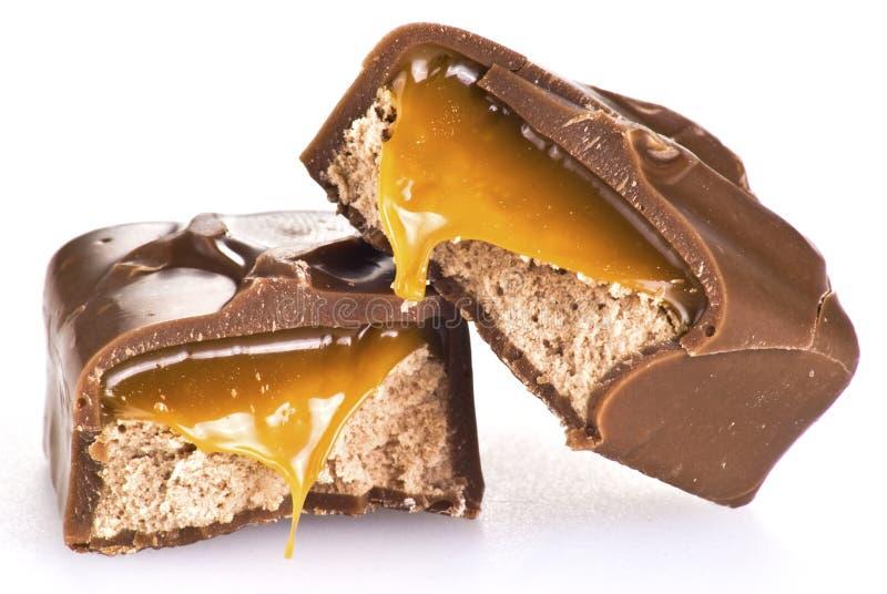 Barra de chocolate foto de archivo libre de regalías