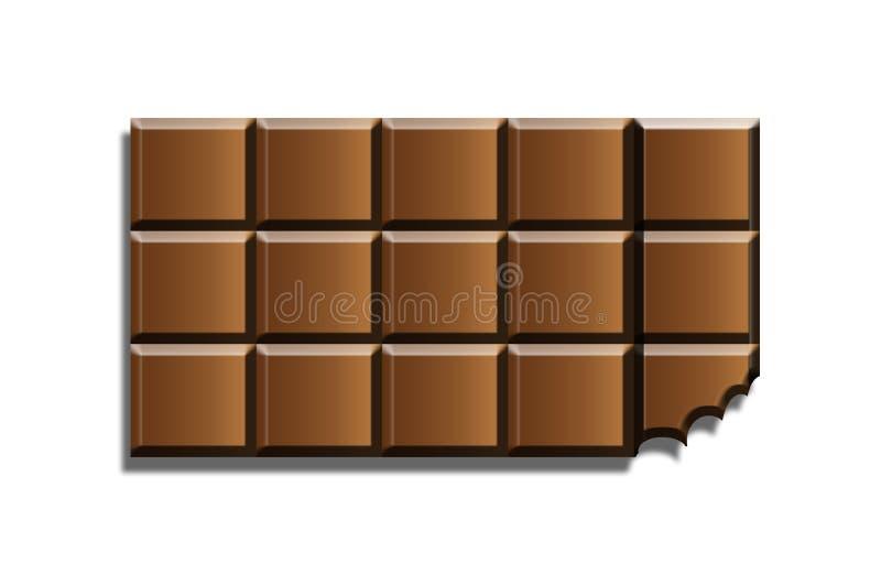 Barra de chocolate ilustração royalty free