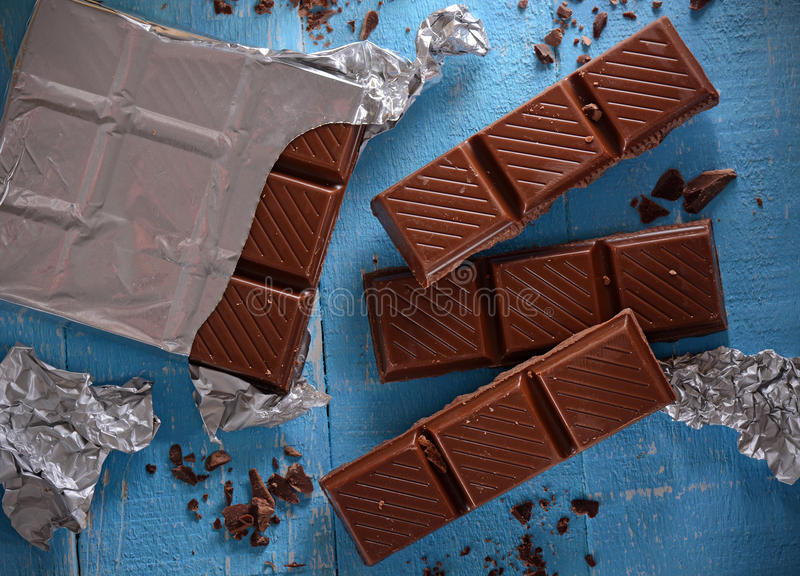 A barra de chocolate fotografia de stock royalty free