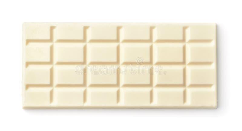 Barra de chocolate blanca foto de archivo libre de regalías