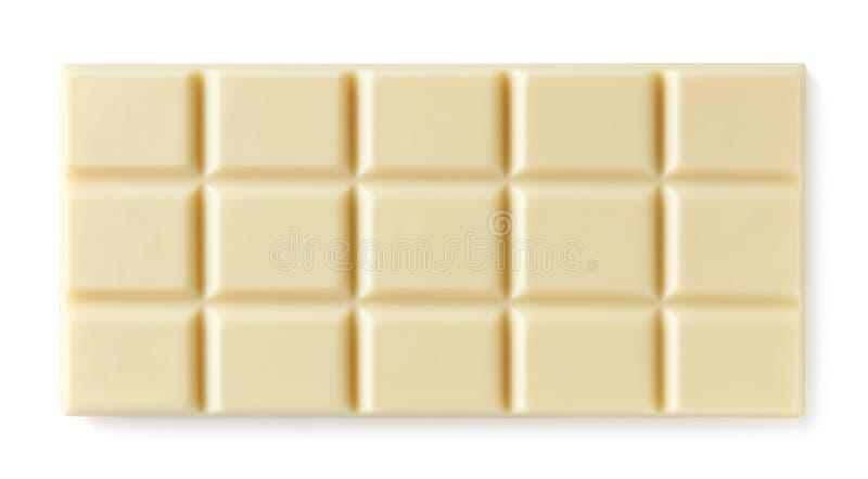 Barra de chocolate branca isolada no fundo branco imagens de stock
