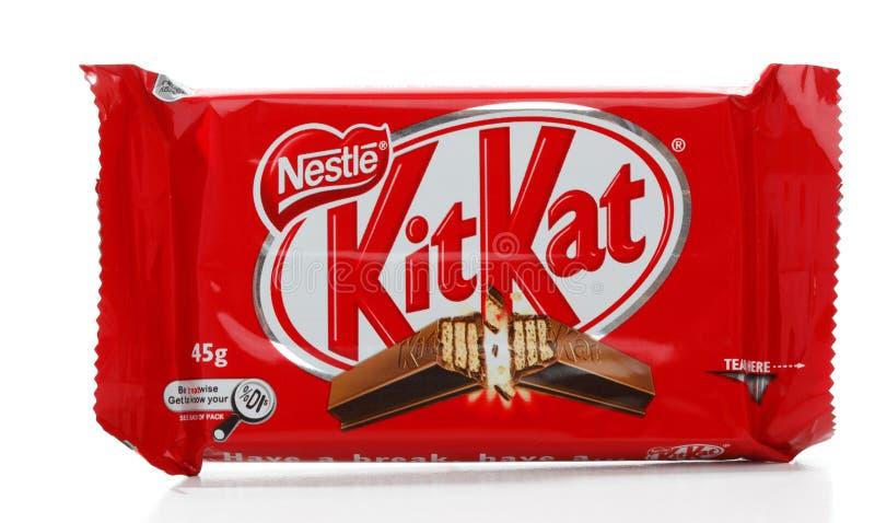 Barra de chocolate del Kat del kit de Nestle fotografía de archivo
