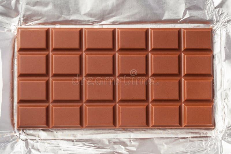 Barra de chocolate do leite fotos de stock royalty free