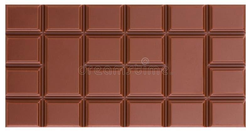 Barra de chocolate do leite isolada no fundo branco com grampeamento p imagem de stock