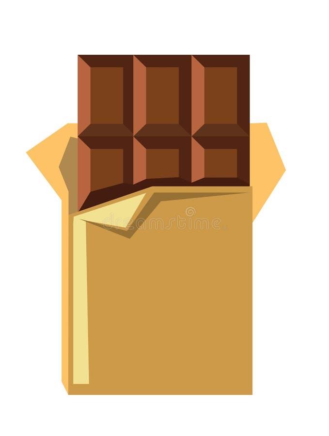 Barra de chocolate do vetor ilustração royalty free