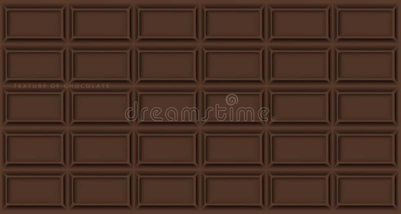 Barra de chocolate fundo do chocolate ilustração royalty free