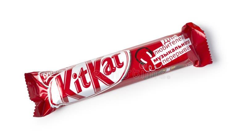 Barra de chocolate de Kit Kat foto de stock