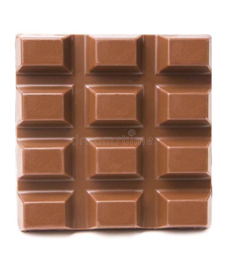 Barra de chocolate no branco foto de stock royalty free