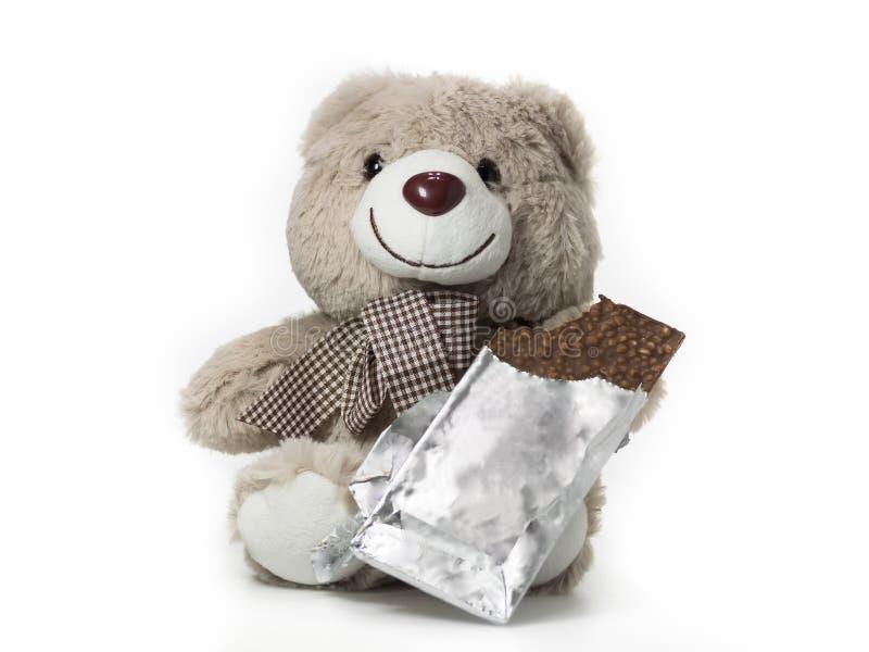 Barra de chocolate para o urso fotos de stock