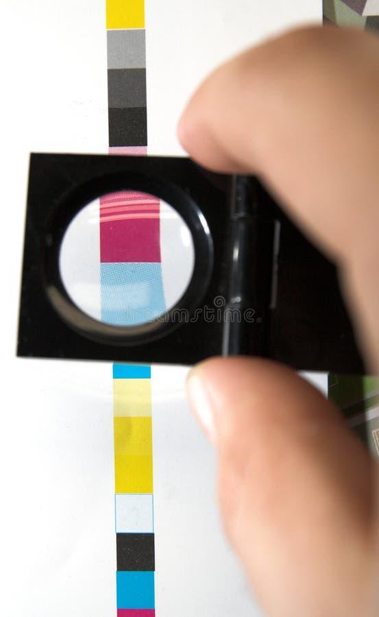 Barra de color de la impresión de CMYK imagen de archivo libre de regalías