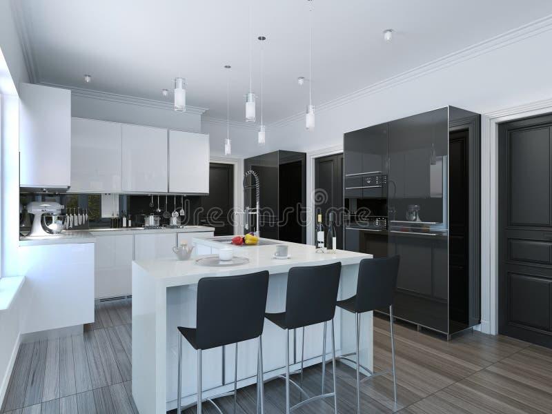 Barra de la cocina del estilo contempor neo stock de for Kitchen designs that stand the test of time