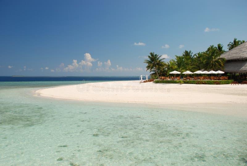Barra de la playa en los Maldives foto de archivo libre de regalías