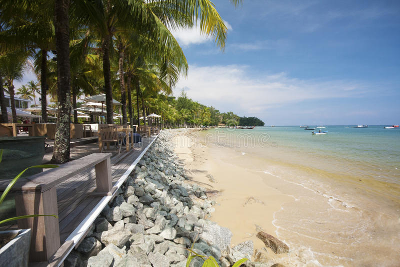 Barra de la playa, explosión Tao, Phuket foto de archivo libre de regalías