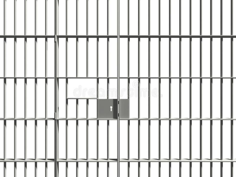 Barra de la prisión foto de archivo