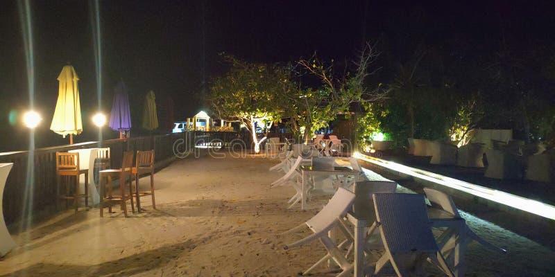 Barra de Maldivas noche imagenes de archivo