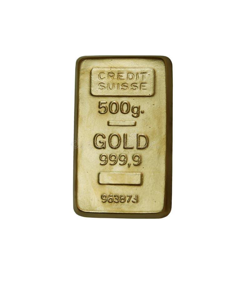 Barra de oro foto de archivo