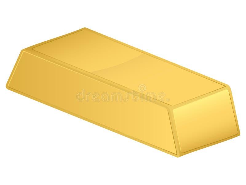 Barra de oro stock de ilustración