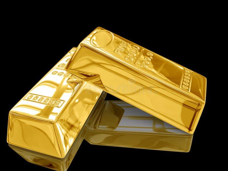 Barra de ouro. ilustração stock