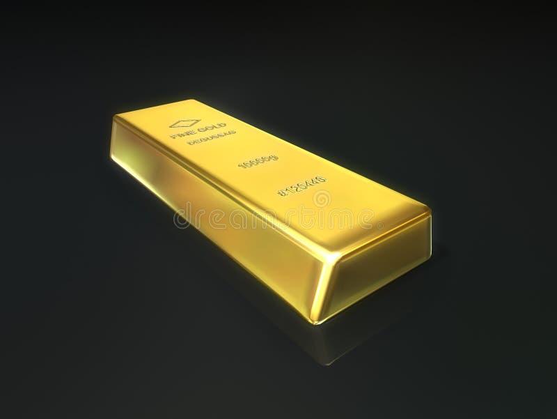 Barra de ouro ilustração stock