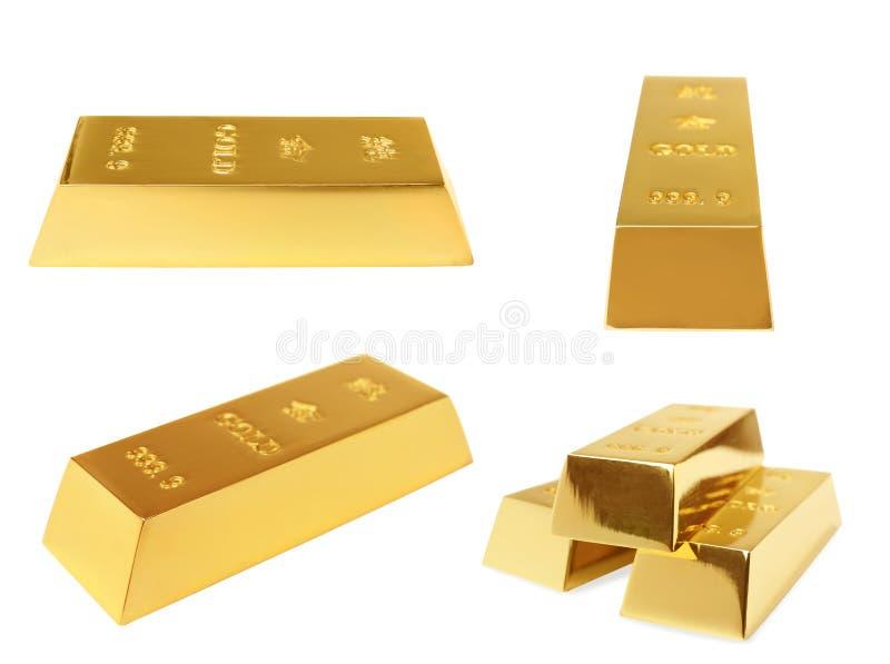 Barra de ouro brilhante preciosa foto de stock royalty free