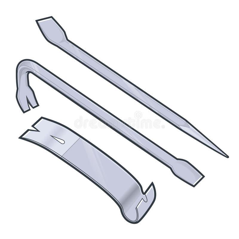 Barra de palanca stock de ilustración