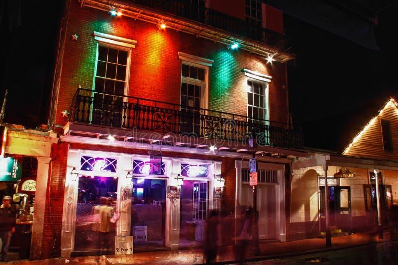 Barra de Vibe do Voodoo da rua de Nova Orleães Bourbon fotografia de stock royalty free