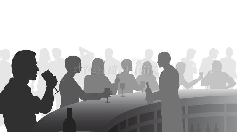 Barra de vino ilustración del vector