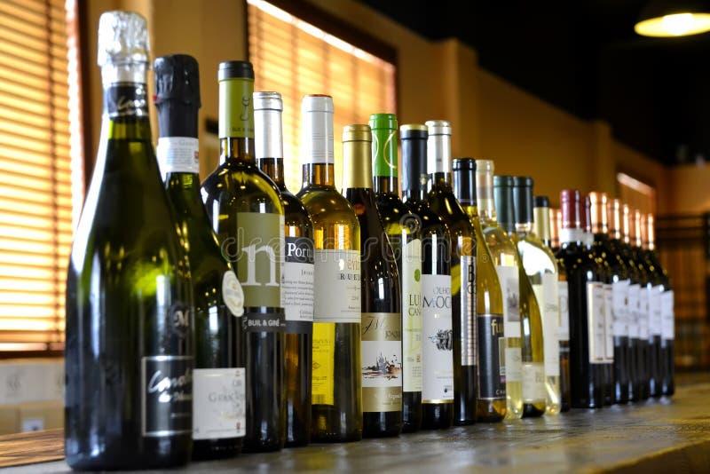 Barra de vino imagen de archivo