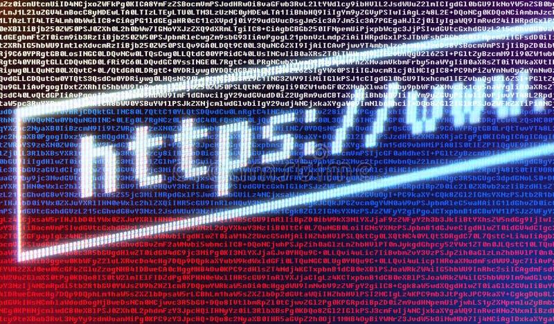 Barra degli indirizzi https://www del browser contro la bandiera russa fotografia stock libera da diritti