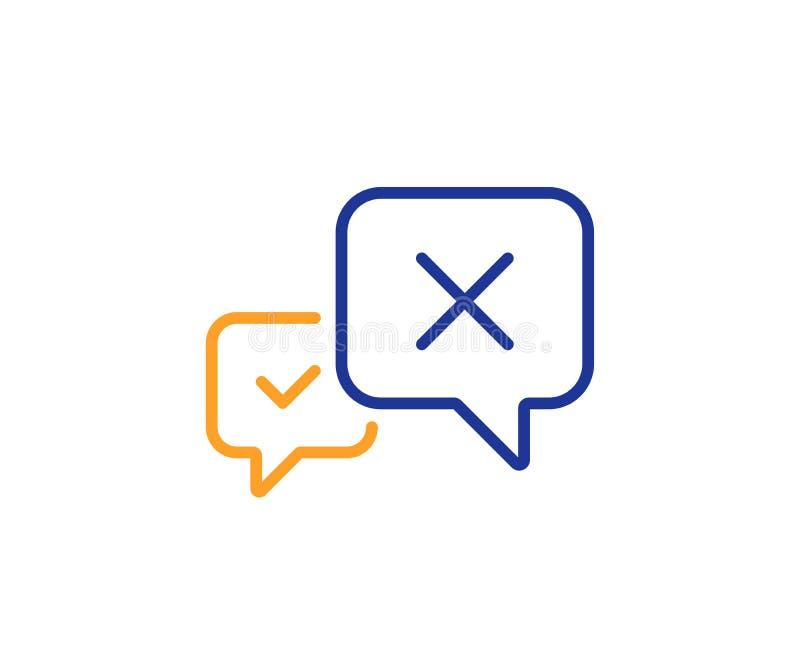 Barra dei messaggi di scarto icona Segno di chiacchierata di declino Vettore illustrazione vettoriale