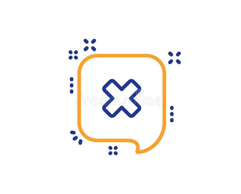 Barra dei messaggi di scarto icona Segno di chiacchierata di declino Vettore illustrazione di stock