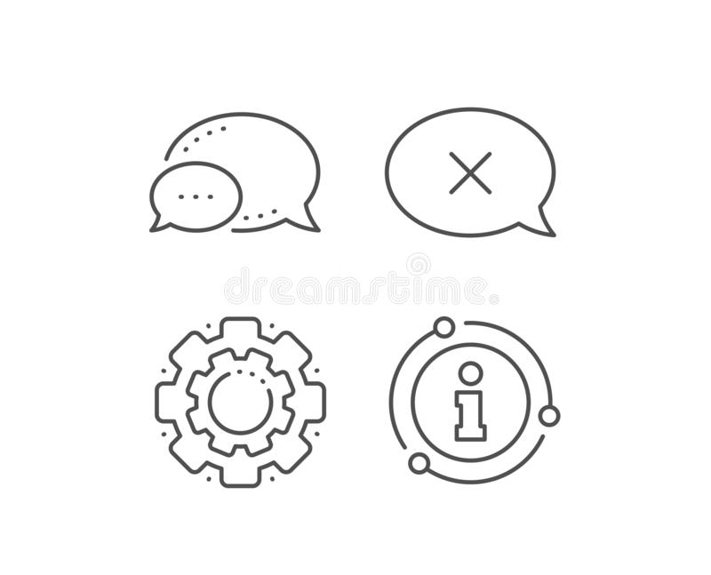 Barra dei messaggi di scarto icona Segno di chiacchierata di declino Vettore royalty illustrazione gratis