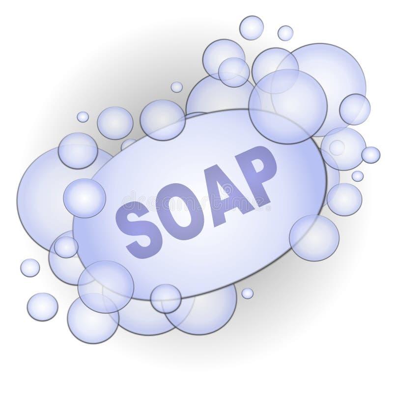 Barra del arte de clip de las burbujas de jabón libre illustration