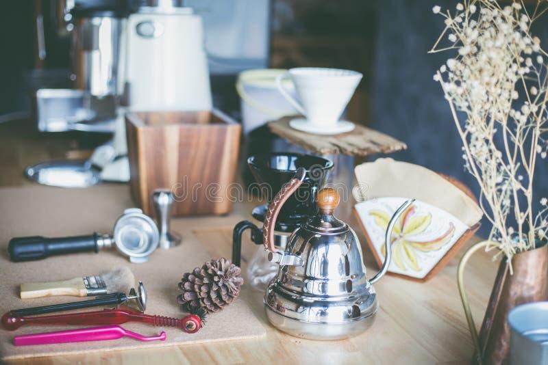 Barra del café express fotografía de archivo libre de regalías