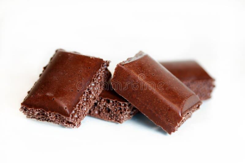 Barra del chocolate foto de archivo