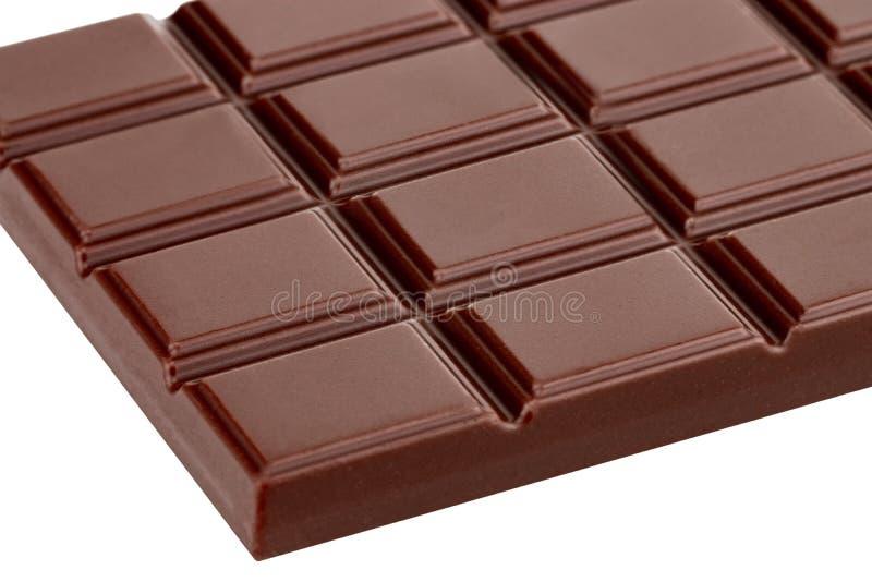 Barra del chocolate con leche aislada en el fondo blanco con el PA del recortes imágenes de archivo libres de regalías