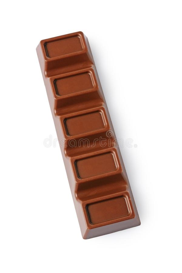 Barra del cioccolato al latte del primo piano con il riempimento immagini stock libere da diritti