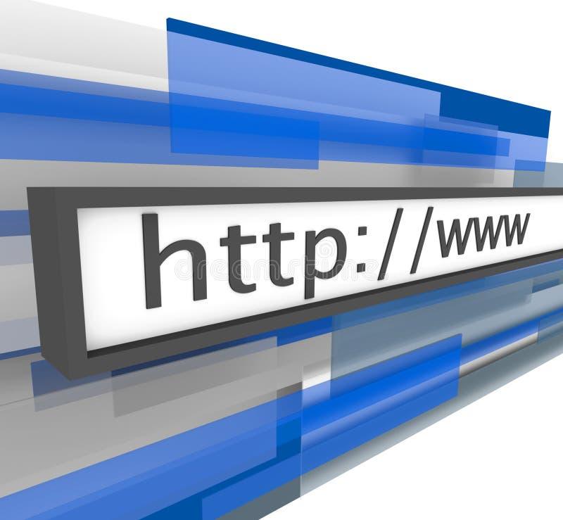Barra del direccionamiento de Web site - HTTP y WWW stock de ilustración