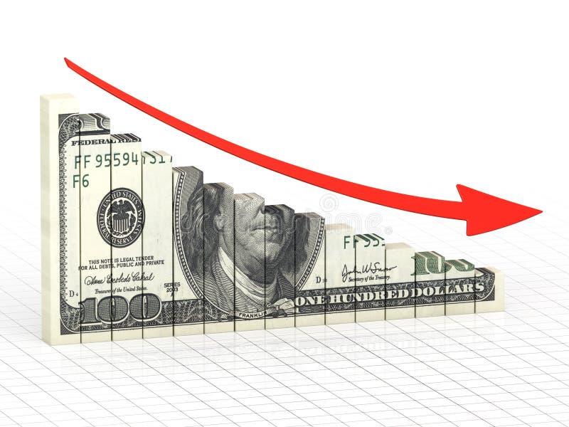 Barra del gráfico de negocio ilustración del vector