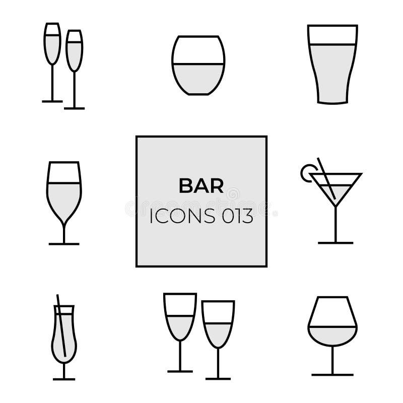 Barra del icono de la web imagen de archivo libre de regalías