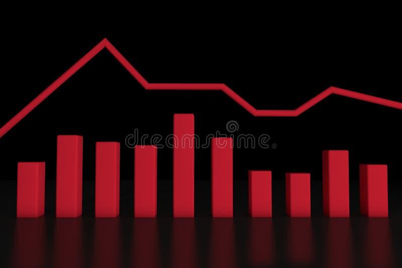 barra del informazione-grafico 3d illustrazione di stock