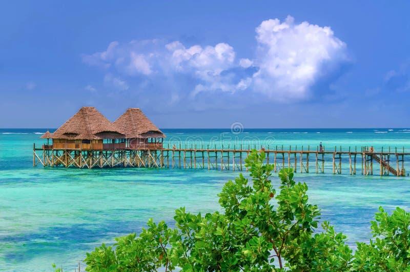 Barra del mare di Zanzibar fotografie stock libere da diritti
