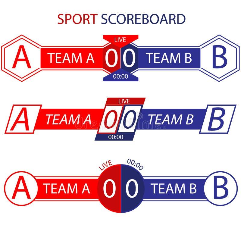 Barra del tabellone segnapunti di sport immagine stock libera da diritti