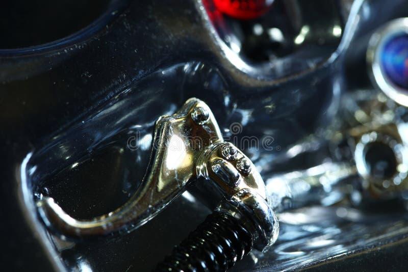 Barra della maniglia della scena del modello del motociclo immagine stock